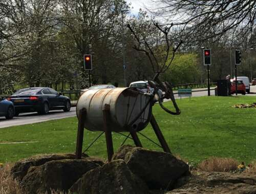 Competitors should beware of feral sculptures which have invaded the town during lockdown